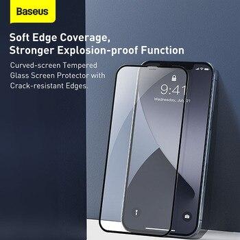 Закаленное стекло Baseus 2 шт. 0,23 мм для iPhone 12 11 Pro XS Max XR X 5