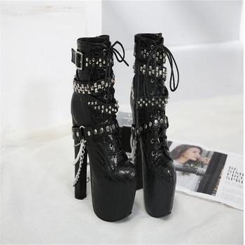 BBZAI shoes woman 16CM Pumps waterproof platform 6CM Comfort Metal decoration feminino Fashion Show Amazing shoes USA 3-8 9