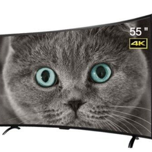 Televisor inteligente con pantalla curva de 55 pulgadas, sistema operativo android, youtube, led, wifi