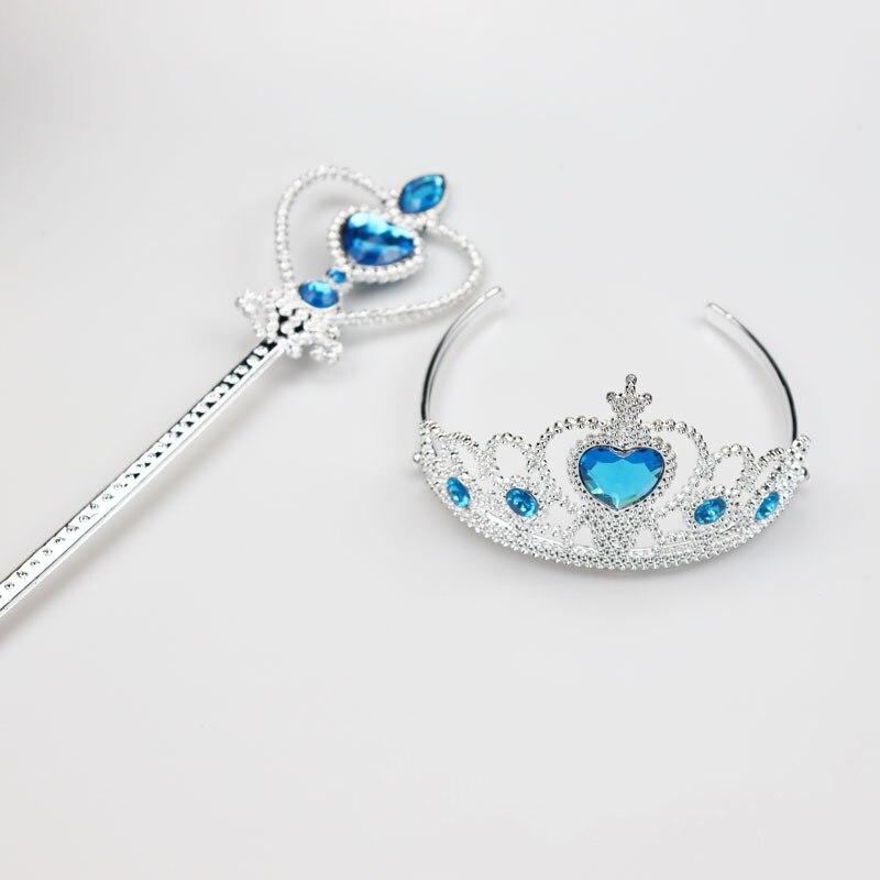 Лидер продаж, 1 шт., качественные модные повязки принцессы с короной для девочек, волшебная палочка с сердечком, милые аксессуары для волос, Д...