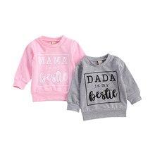 Sweatshirts Dada Girls Kids Mama Winter O-Neck Letter for Boys 0-3year Tops Warm Long-Sleeve