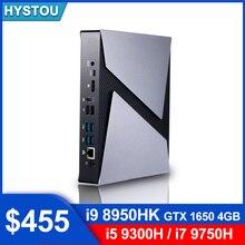 NVIDIA GeForce GTX 4GB i9 8950HK Mini gaming PC Intel core i9 9880H i7 9750H HD Dual Graphics 2 DDR4 slot BT4.0 Windows computer
