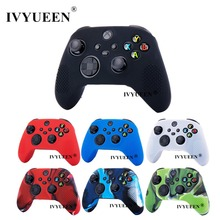 IVYUEEN 7 Colors for XBox Series X S Slim Controller Protective Silicone Skin Gel Studded Case with Analog Thumb Stick Grip Cap