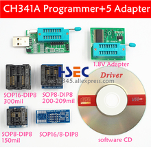 CH341A 24 25 EEPROM Flash IC BIOS USB Programmer sop8 sop16 soic8 test clip 1.8V adapter socket EZP2010 EZP2011 EZP2013 EZP2019