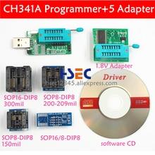 CH341A 24 25 EEPROM فلاش IC BIOS USB مبرمج sop8 sop16 soic8 اختبار كليب 1.8V مأخذ توصيل محول EZP2010 EZP2011 EZP2013 EZP2019