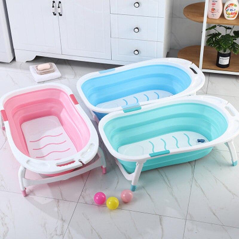 Bébé pliant baignoire salle de bain accessoires Portable pliable enfants lavage baignoire anti-dérapant Spa baignoire salle de bain organisateurs