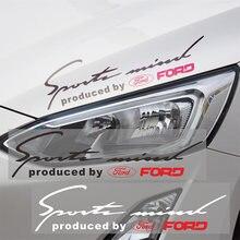 1 шт автомобилей головной светильник для бровей Стикеры автомобиля