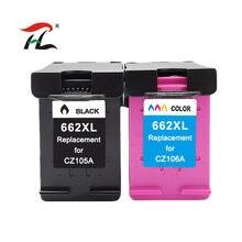 Substituição para HP662 662XL Cartucho de Tinta para Impressora HP Deskjet 662 1015 1515 2515 2545 2645 3545 4510 4515 4516 4518 printer