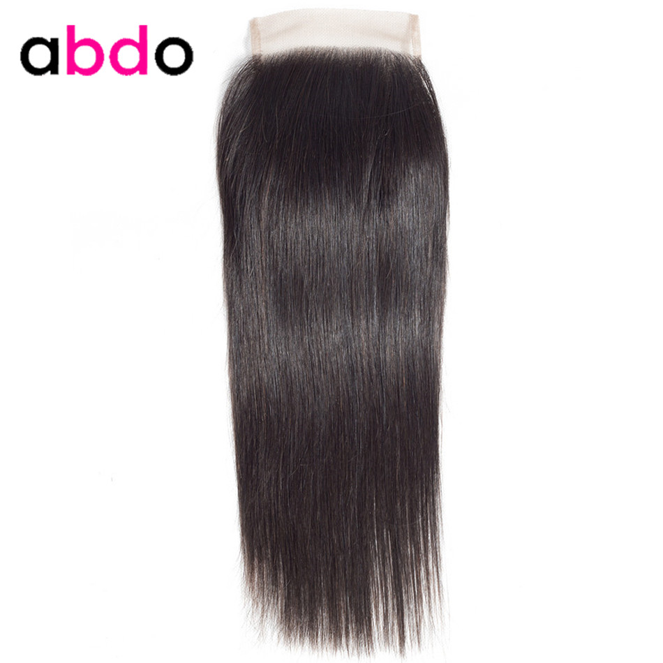 4x4 Lace Closure Human Hair Closure Peruvian Hair Weaving 20 22 Inch Closures Remy Straight Frontal Closure Free Part Abdo