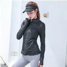 Nova malha splice correndo jaqueta esportiva feminina jaqueta de manga longa yoga respirável yoga superior camisa esportiva feminina