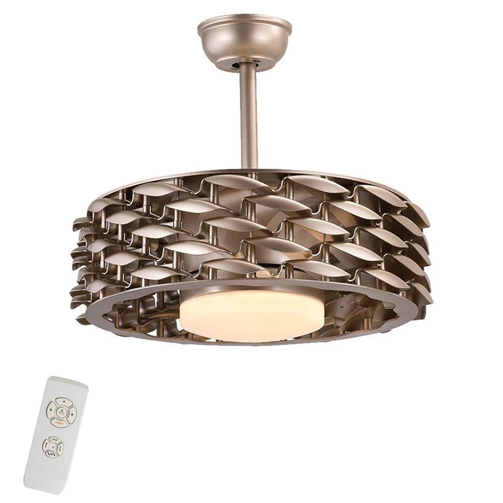 Creative Ceiling Fans With Lights Indoor Silent Fan Light European Style Fan Light No Fan Blade Design