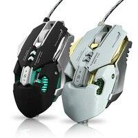 Com fio rgb gaming mouse 11 botões programáveis 3200 dpi ajustável gaming mouse com botão de fogo para computador portátil pro gamer