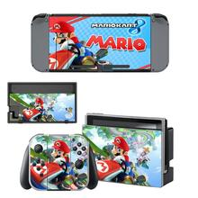 Nintend Swithc Skin vinyl Sticker Mario Kart 8 Deluxe Decal for Nintendo Switch Full Set Faceplate Stickers Console Joy-Con Dock
