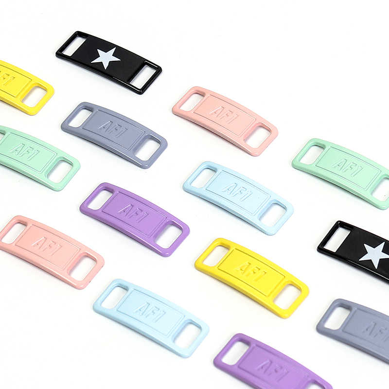 Sneaker Metal Lace Lock Kit AF1 2pcs Shoelace Buckle shoelaces Accessories