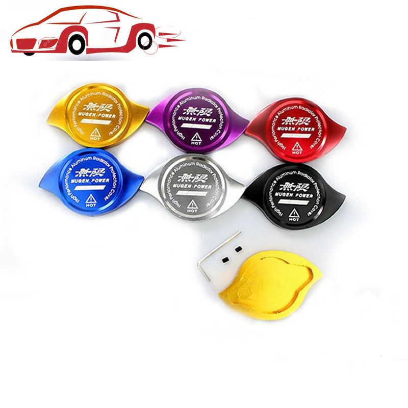 Mugen Radiator Cap Cover Car Tank Cover Fit For HONDA Accord Civic CR-V CR-Z CRX ACURA CL CSX ILX MDX NSX