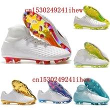 2020 Cheap Original Outdoor Black Superflys FG Soccer Shoes Top Football Boots Mens High Top Cleats