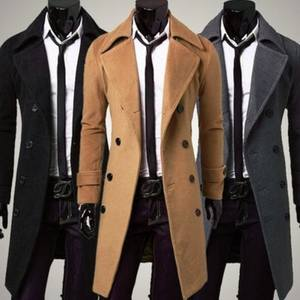 Zogaa Long-Coat Business Woolen Autumn Men's Winter Fashion Casual New And Solid Boutique