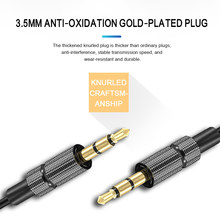 1/2/náilon trança cabo de extensão do fone de ouvido 3.5mm macho para macho aux cabo m/m áudio estéreo cabo extensor fone de ouvido 3.5mm cabo