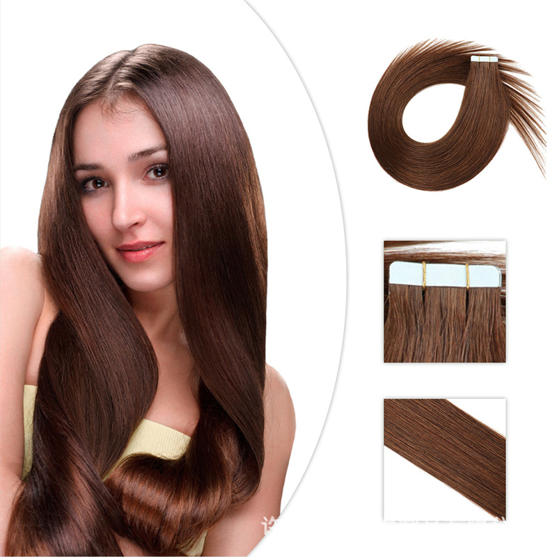 Bluelucky PU Skin Weft Tape In Hair Extensions 2.5g/pc Cuticle Aligned Remy Hair