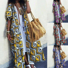 Blouse Kimono Cardigan Cover-Up Floral-Print ZANZEA Women Summer Ladies Long Shirt Vintage
