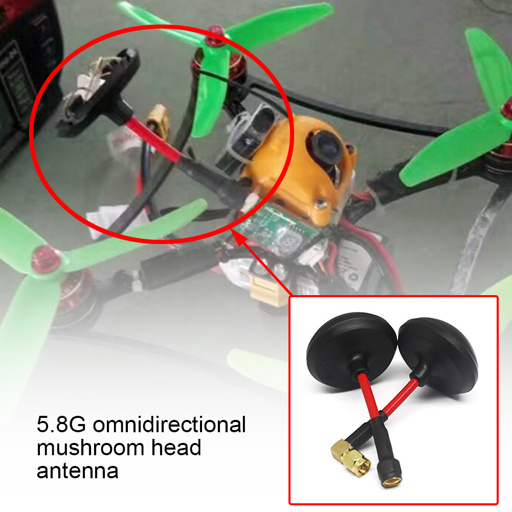 5.8GHz Spare Part Reduce Interference Omnidirectional Flectional Receive RC <font><b>Drone</b></font> VR <font><b>FPV</b></font> <font><b>Goggles</b></font> Mushroom Antenna Image Transfer image