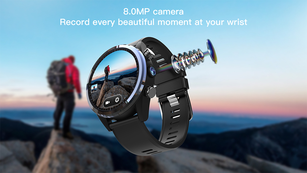 Waterproof kospet Hope 3GB Smart Watch with 8MP Camera including Google play store and GPS Map waterproof for men available for Android ios 14