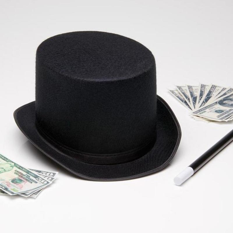 Magician Stage Performance High Hat Women Men British Style Black Solid Color Party Costume Cap Novelty Performance Props Hat