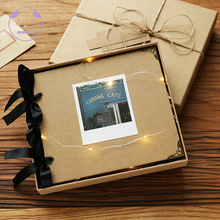 ANGWING Loose-Leaf/Wedding Photo Album Scrapbook 20Pages Blank/DIY Albums Photo Cover Self Adhesive Scrapbook Album Case Binding