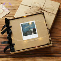 ANGWING Loose-leaf/zdjęcie ślubne Album księga gości 20 stron puste/DIY albumy zdjęcie okładka samoprzylepna księga gości Album Case wiążące