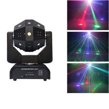 Led Mini Moving Head Bal Laser Beam Strobe 3 In1 Voetbal Roller Moving Heads Dmx Oneindige Rotatie Led Disco Dj bal Licht(China)