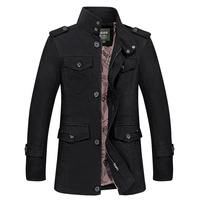 Helisopus Male British Fashion Jackets Coats Men Classical Business Coats Casual Long Sleeve Stand Collar Outwear Tops