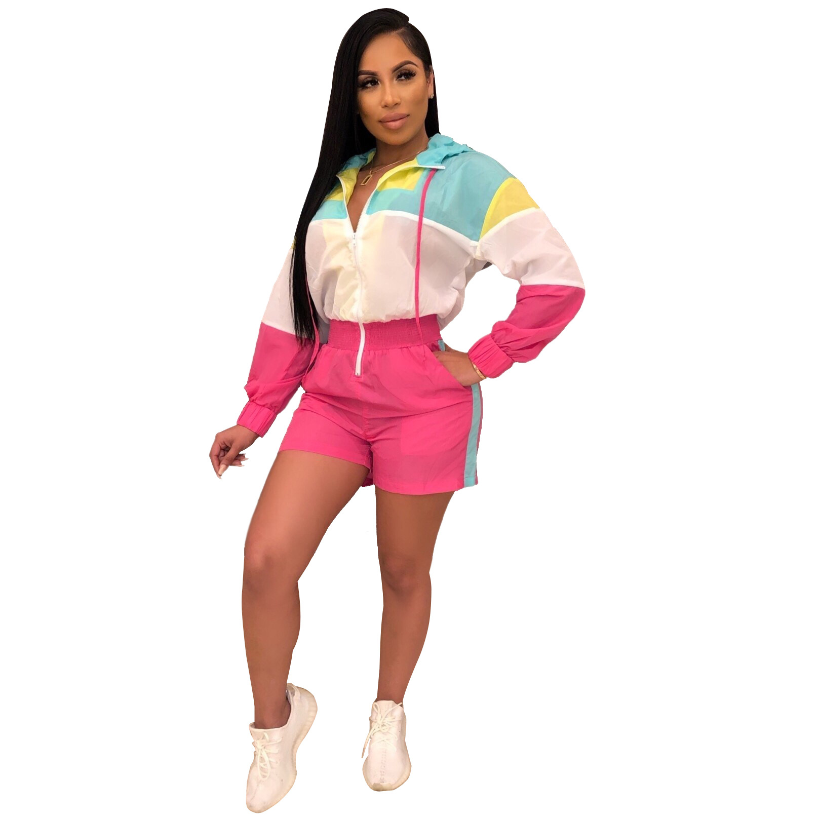 Xm6075 Major Platform Hot Sales Europe And America WOMEN'S Dress Mixed Colors Casual Loose-Fit Onesie Jumpsuit