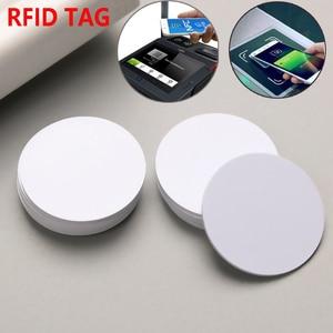 3PCS Universal Ntag 215 NFC Tag Mini Round Key Tags Keychain Sample Patrol RFID Tag NFC Phone Chip Electronic Card Tag