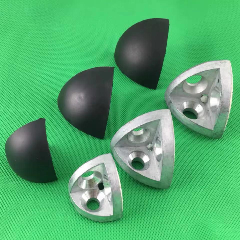 Arc 2020 3030 4040 4545 трехмерный соединитель для дугового алюминиевого профиля, винты и крышки в комплекте