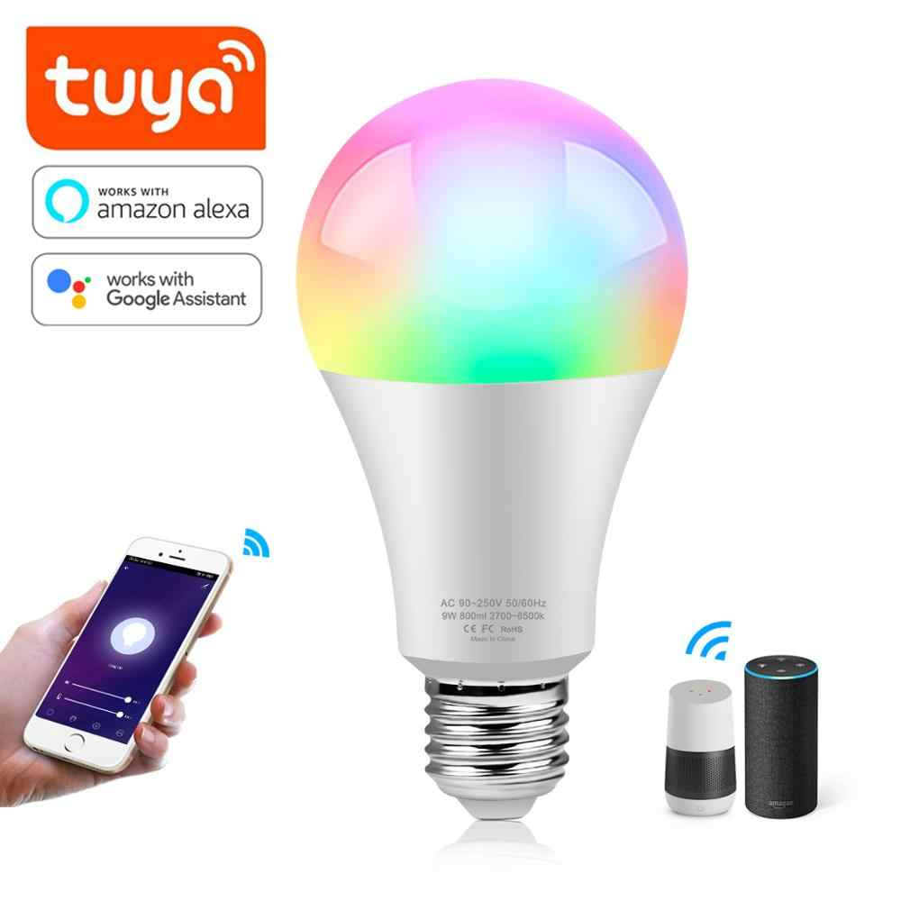 Smart Lampu Tuya RGB LED Smart Life 2.4G WiFi Lampu LED Warna Berubah Lampu Lampa Led E27 Alexa echo google Home 220V 110V