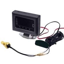1 pc 12 v 24 v universal digital calibres de temperatura da água para carro + sensor de temperatura da água cabeça plug 10mm 12 14mm 16mm 17mm 21mm