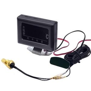 Image 1 - 1PC 12V 24V Universal Digital Wasser Temperatur Gauges für Auto + Wasser Temperatur Sensor Kopf Stecker 10MM 12 14 MM 16MM 17MM 21MM