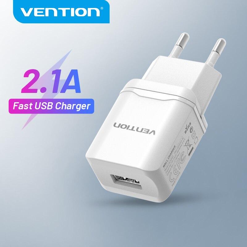 Vention USB зарядное устройство 5V 2.1A быстрое USB настенное зарядное устройство EU адаптер для iPhone 11 Pro X 8 Huawei Samsung S8 Xiaomi Мобильный телефон зарядное ус...