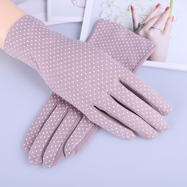 Howfits Spring Summer Driving Gloves Women Touch Screen Thin Cotton Gloves Lace UV Sun Against Non Slip Riding Car Gloves 3