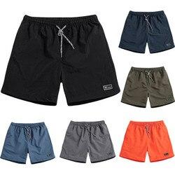 Verão masculino curto mais tamanho fino de secagem rápida praia calças casuais esportes calças curtas hawaii secagem rápida praia dos homens curto 2020