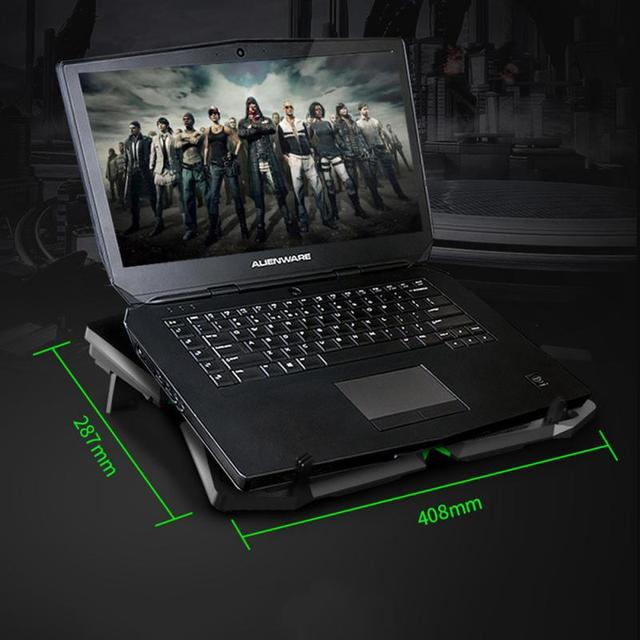 Laptop Cooler Notebook Cooling Pad With 5 LED Fan USB Cooler Pad Computer Stand Mat For 12-17 Inch PC Laptop Speed Adjustable 6
