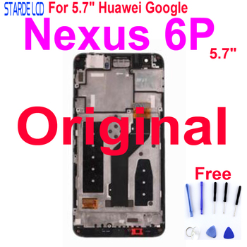 Original For Huawei Google Nexus 6P LCD Display Touch Screen Digitizer Assembly with Frame 6P Screen Replacement srjtek 7 for asus google nexus 7 1st gen nexus7 2012 me370 me370t me370tg touch screen tablet digitizer glass replacement parts