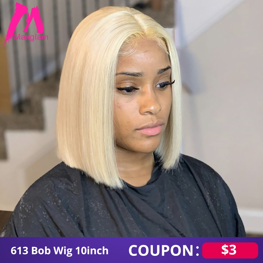Bob Wig Blonde 613 Lace Front Human Hair Wigs Hd Short Frontal Brazilian Remy Straight Ombre Colored 1b Burgundy For Black Women