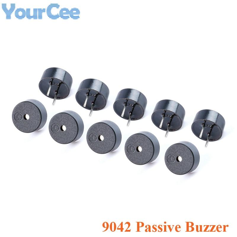 10 pces 9042 integrado buzzer passivo 16 ohm 16Ω ac 3v 3.3v 9*4.2mm 9x4.2mm mini piezo buzinas alto-falante diy eletrônico