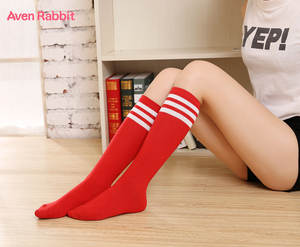 Aven Rabbit Kids Socks Girl Clothes Boy Yellow-Red-Green-Blue Striped Socks Kids Dance or Student Socks Sports