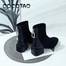Female Shoes In The Fall And Winter Of 2019 New Female Boots Boots Square Thin Shoes Joker Martin Boots Thick With Short Boots35 2016 new boots for women s shoes in europe and the former with a short tube of fine with high heels pointed martin boots