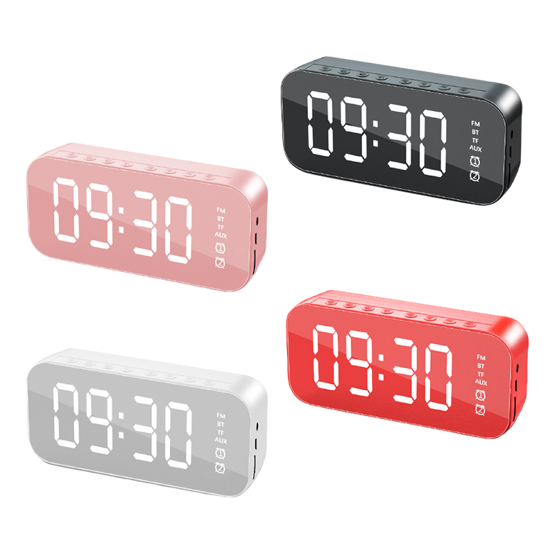 Altavoz inalámbrico con Bluetooth, minidespertador pequeño con espejo, portátil, Cannon, Mini transmisión de voz, tarjeta de Audio Vehicular