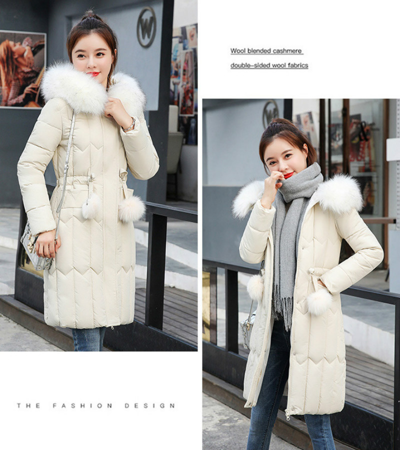 Plus size winter coat women padded cotton hooded women long jacket outwear slim white warm vintage female parka new 2019 DR1195 (20)