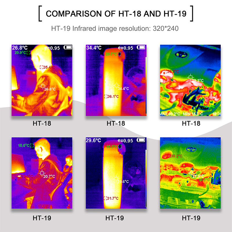 Handheld IR Thermal Imaging Camera With High-Resolution TFT Color Screen Display 13