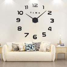 New Luminous 3D Wall Clocks Large Horloge DIY Acry